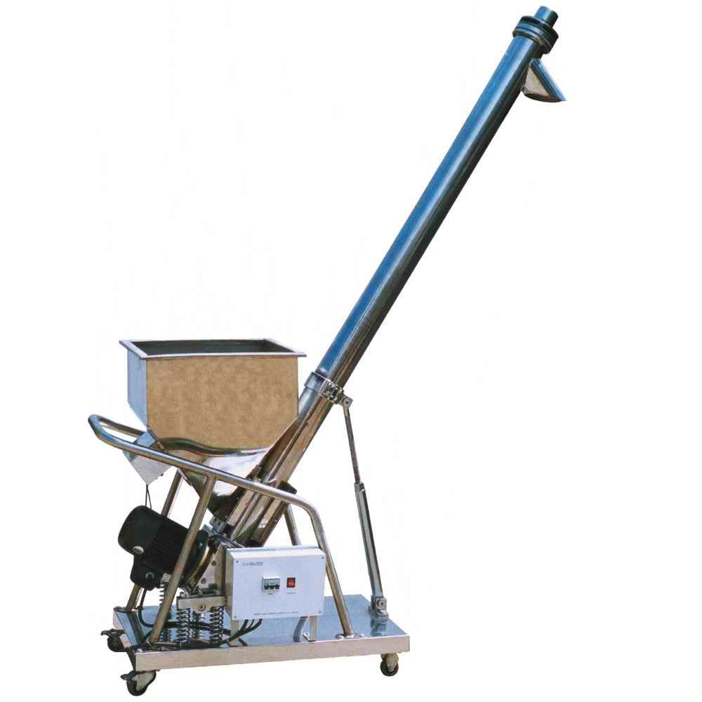 Elevador de tornillo para granos y polvo