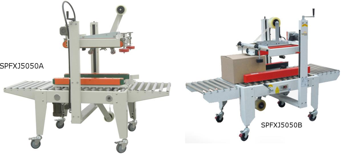 Selladora de cajas tracción lateral